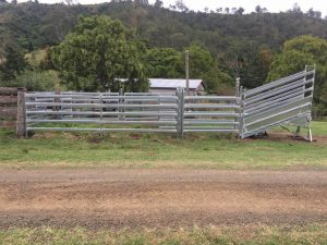 Stock fencing and cattle yards