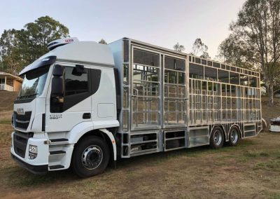 Custom built horse truck
