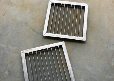 Metal grids fabricated